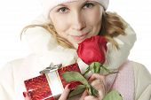 Winter Girl In Valentines Day