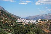 Aldeia branca, Cortes de la Frontera, Espanha.