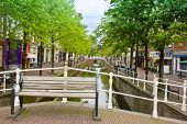 bridge in old town, Delft, Holland