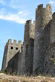 Portugal, Obidos: The Outside Walls Of The Medieval Fortress