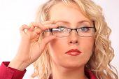 The Beautiful Blonde In Optical Salon