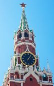 Chiming clock on the Spassky tower of the Moscow Kremlin