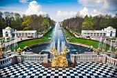 picture of fountains  - Fountain in Peterhof - JPG