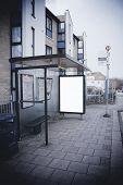 Blank Sign At Bus Stop
