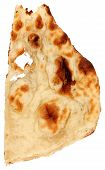 stock photo of crip  - Indian bread over white background - JPG