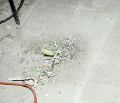 Dirt Cracked Of Cement Floor In Construction Site