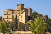 stock photo of chateau  - The renaissance Lourmarin Castle  - JPG