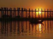 Sonnenuntergang auf u Bein Brücke, myanmar