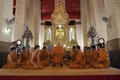 Samutprakan Thailand - March 23 : Unidentified Thai Monk Praying In The Grand  Church Of Paichayount