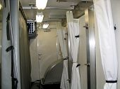 picture of decontamination  - inside a portable decontamination truck - JPG