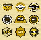 Taxi insignia - vintage style
