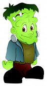picture of frankenstein  - Cute Happy Cartoon Halloween Frankenstein Character Vector Illustration - JPG