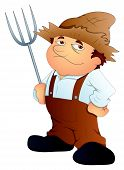 Farmer - Cartoon Character - Vector Illustration