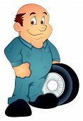 Automobile Engineer - Cartoon Character - Vector Illustration