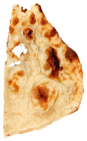 picture of crip  - Indian bread over white background - JPG