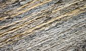 Texture Of Layered Clay. Closeup Photo Of Cliff On Black Sea Coast