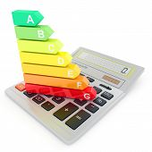 Energy efficiency rating on calculator