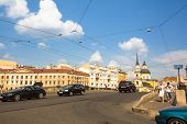 ST.PETERSBURG, RUSSIA - JUN 26: One of the streets in historical center, Jun 26, 2013, SPb, Russia.