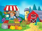 Farmer theme image 5 - eps10 vector illustration.
