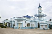 Sultan Ibrahim Jamek Mosque in Muar, Malaysia. Architecture of this mosque have strong British influ