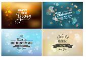 Light bokeh, magic Christmas lights - backgrounds