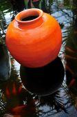 Orange Colored Terracotta Pot