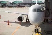Airplane Preparing To Take Off