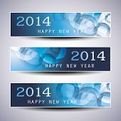 Set of Horizontal Christmas or New Year Banners - 2014