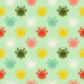 geometric pattern in spring colors