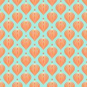 Pattern with shapes similar to hot air balloons