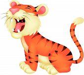 Tiger cartoon roaring