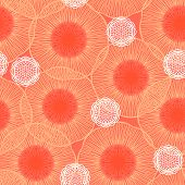 Poppie field pattern in coral red organic colors