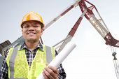 Shipping Engineer With Large Crane