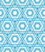 Pattern with star shapes in blue and white.