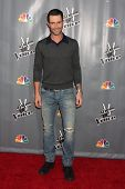 LOS ANGELES - NOV 7:  Adam Levine_ at the The Voice Season 5 Judges Photocall at Universal Studios L