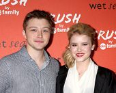 LOS ANGELES - NOV 6:  Sterling Knight, Taylor Spreitler at the CRUSH by ABC Family Clothing Line Lau
