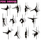 Pole dancer set