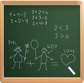 Vector illustration of school board