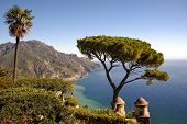 View of Mediterranean from Ravello, Italy