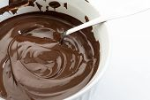 Melted Chocolate White  Background