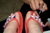 Pedicure Nail Preparation