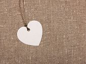 heart shape label tag