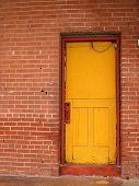 Yellow Door Red Trim