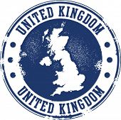 United Kingdom Rubber Stamp