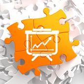 Flipchart Icon on Orange Puzzle.