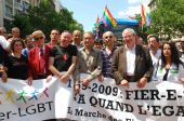 French Politicians At Paris Gay Pride 2009