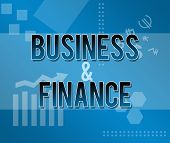 Business and Finance Blue Themed Background