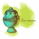 Ice cream, hand drawn illustration