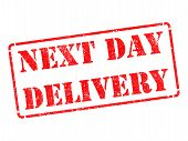 Next Day Delivery on Red Rubber Stamp.