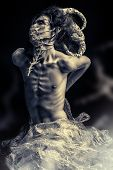 foto of alien  - Frightening mythical creature male - JPG